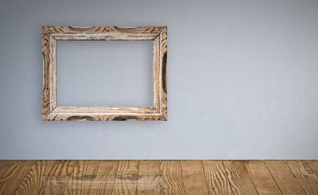 Picture frame over an old wall interior. path provided. Stock Photo - 4068018