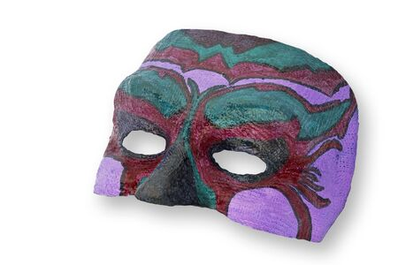 excludes: carnival mask isolated on white background, path excludes the shadow.