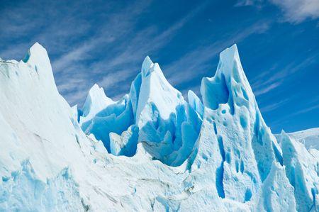 Ice texture in Perito Moreno glacier, patagonia argentina. Stock Photo