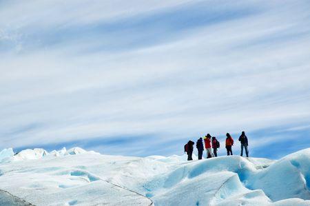 トレッキング ペリトモレノ氷河、アルゼンチン パタゴニアの氷。