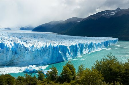 View of the magnificent Perito Moreno glacier, patagonia, Argentina.