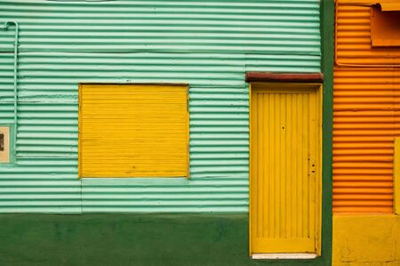 Colorful houses  in La Boca, Caminito, a tourist attraction in Buenos Aires, Argentina. photo