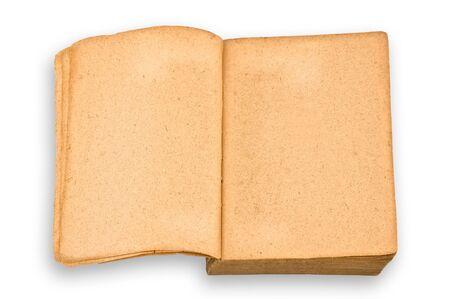 excludes: Vintage libro isolate, sfondo bianco, il clipping percorso esclude l'ombra.
