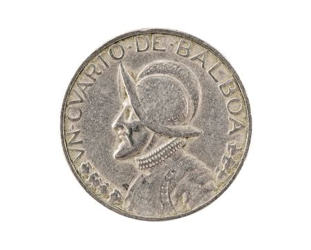 spaniard: Panamanian coin.