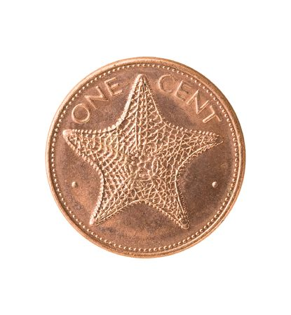 cupper: Bahamas coin with starfish
