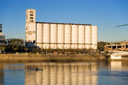 Old grain elevator and silos in Puerto Madero, Buenos Aires, Argentina. photo