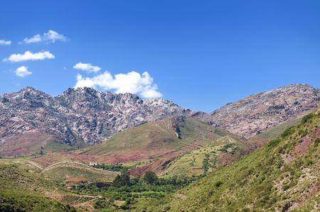Paisaje andino en el departamento de Chuquisaca, Bolivia.  Foto de archivo - 6567679