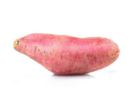 Sweet Potato close up, isolated on white background.  photo