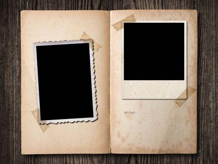 Vintage photo album, with copy space photo