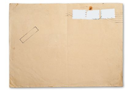 old envelope: Blank envelope