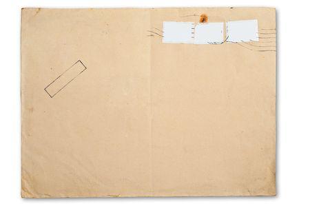 old envelope: Blank envelope