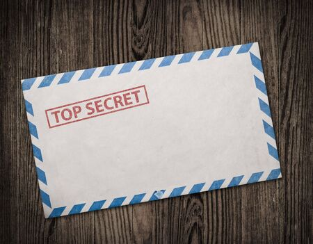 Open  envelope with top secret stamp Stock Photo - 8212412