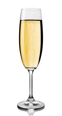 coupe de champagne: Verre de Champagne, isol� sur fond blanc Banque d'images