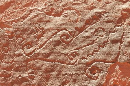 Aboriginal rock art at Talampaya National Park, Northern Argentina. Stock Photo - 8530595