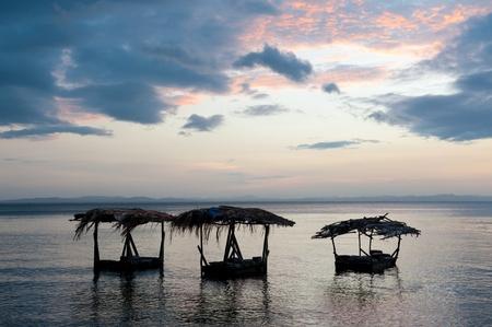america centrale: Tramonto a Lago Nicaragua, America centrale.