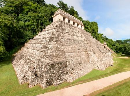 Maya pyramid at Palenque, Chiapas, Mexico. photo