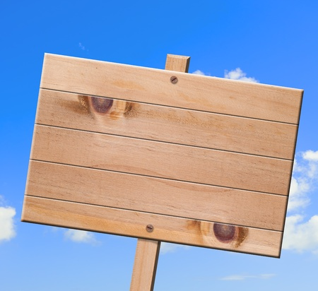 vintagel: Wood sign isolated  with clipping path, sky background.