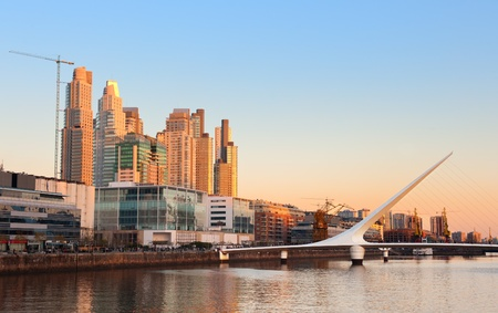 aires: Puerto Madero neighbourhood, Skyline, Buenos Aires, Argentina.  Stock Photo