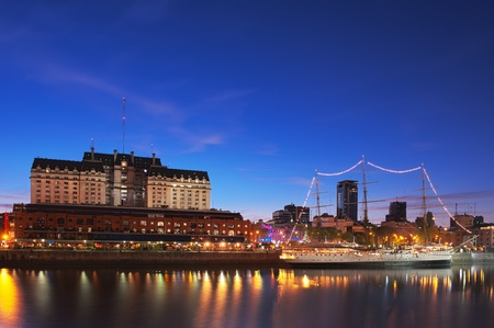aires: Puerto Madero neighbourhood at Night, HDR image, Buenos Aires, Argentina.