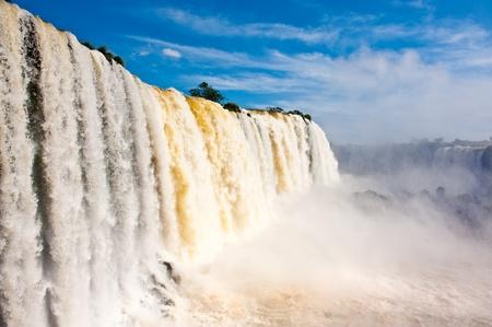 natural wonders: Iguazu falls, one of the new seven wonders of nature.