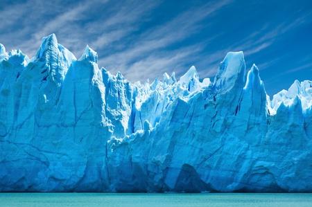 Perito Moreno glacier, patagonia, Argentina. Copy space. photo