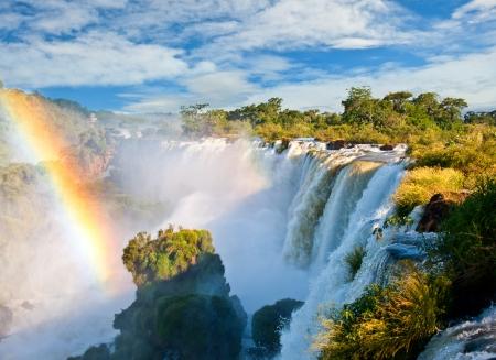 america del sur: Cataratas del Iguazú, una de las nuevas siete maravillas de la naturaleza.