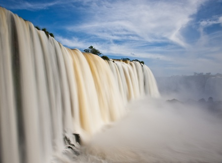 Iguazu falls, one of the new seven wonders of nature. View from the brazilian side. 스톡 콘텐츠