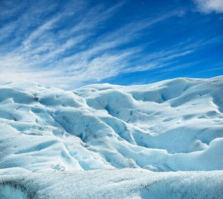 icescape: Perito Moreno glacier, patagonia, Argentina. Copy space.