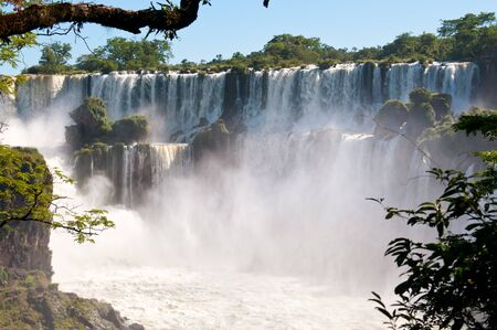 Iguazu falls, one of the new seven wonders of nature. View from the argentinian side. photo