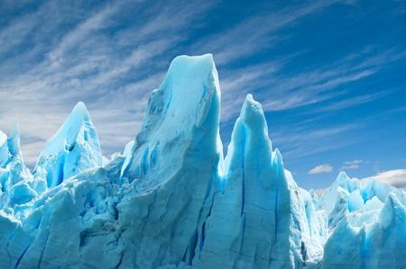 페리 모레노 빙하, 파 타고 니 아, 아르헨티나. 공간을 복사합니다. 스톡 콘텐츠 - 12307332