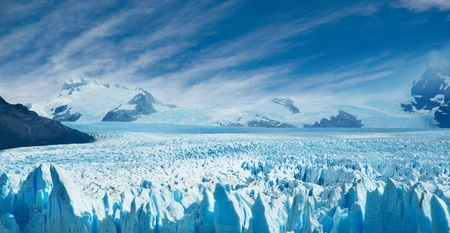 Perito Moreno glacier, patagonia, Argentina. Copy space.  photo