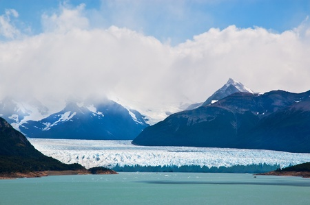 Perito Moreno glacier, patagonia, Argentina. Panoramic view. photo