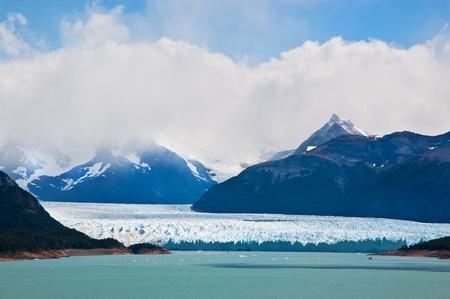 icescape: Perito Moreno glacier, patagonia, Argentina. Panoramic view.