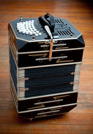 Traditional tango musical instrument, called bandoneon. photo