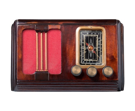 Vintage radio isolated on white. Stock Photo - 12657174