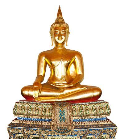 thai believe: Buddha statue isolated on white.