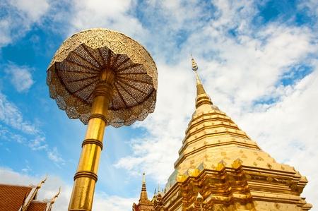 Buddhist Temple, Doi Suthep in Chiang Mai, Thailand