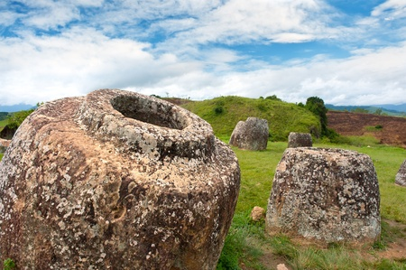 Ancient archaeological site Plain of Jars, Xieng Khuang province, Laos.
