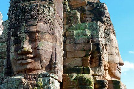 bayon: The Bayon Khmer temple at Angkor in Cambodia.