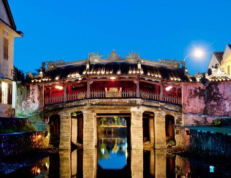 nam: The japanese bridge, in the old quarter of Hoi An, Vietnam.