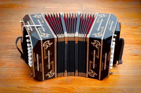 Bandoneon, traditionele tango muziekinstrument.