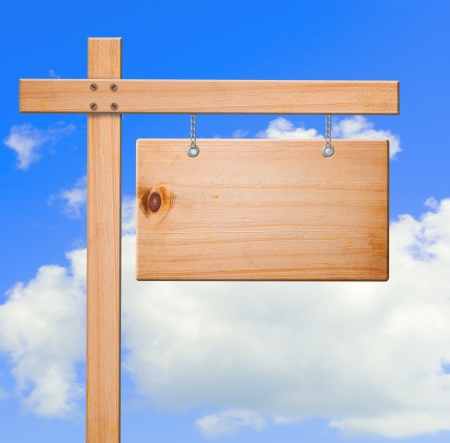 advertisment: Real estate wooden sign
