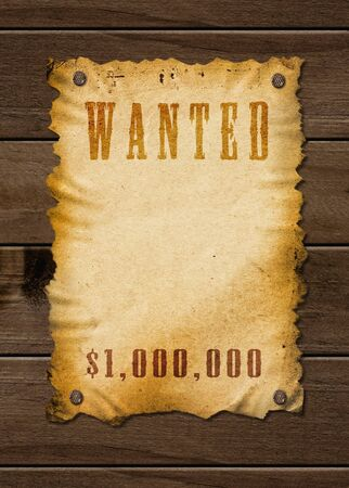 cowboy background: Old western sign, on wooden background  Stock Photo