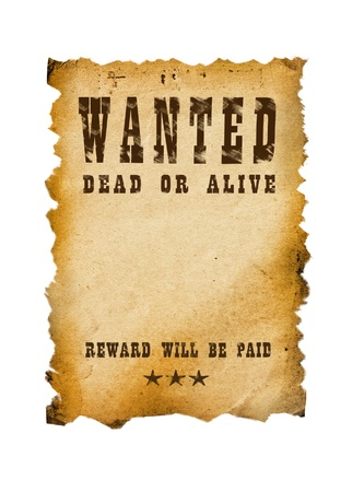 654 Vintage Wanted Poster Stock Vector Illustration And Royalty ...