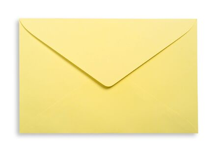 excludes: Yellow envelope isolated, clipping path excludes the shadow.