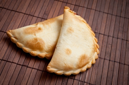 meat pie: traditional Argentinian empanadas, or meat pie. Stock Photo