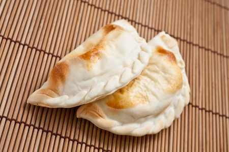 caribbean food: traditional Argentinian empanadas, or meat pie. Stock Photo