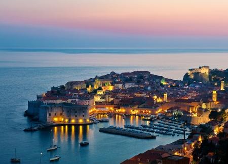 croatia dubrovnik: The Old Town of Dubrovnik, Croatia, on the Adriatic sea  Unesco World Heritage Site  Stock Photo