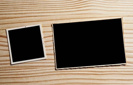 Vintage blank photographs frame with copy space. photo
