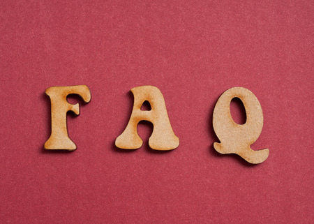 FAQ wooden letters 스톡 콘텐츠